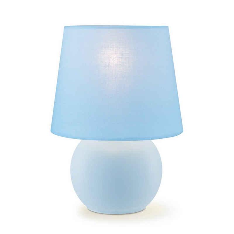 home sweet home Tischleuchte »Tischleuchte ISLA pastellblauer Schirm - 22cm - Kugelfuß - E14 - Schirmlampe«