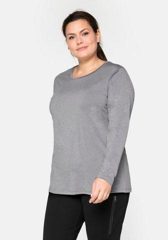 Sheego Marškinėliai ilgomis rankovėmis su ats...