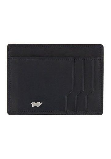 Braun Büffel Kartenetui »GOLF SECURE Kartenetui M schwarz«, mit RFID-Schutz, 6 Karten- und 3 Steckfächern