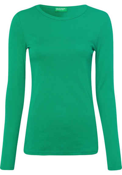 United Colors of Benetton Langarmshirt im Basic-Look