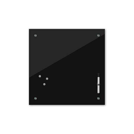 Bilderdepot24 Glasbild, Memoboard - schwarz - 24 Farben