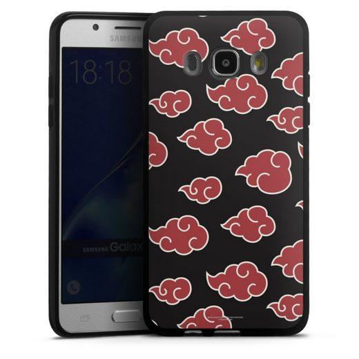 DeinDesign Handyhülle »Akatsuki Pattern« Samsung Galaxy J5 (2016), Hülle Offizielles Lizenzprodukt Naruto Shippuden Akatsuki