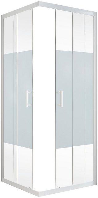 Duschen und Zubehör - Schulte Eckdusche »Sunny«, BxT 90x90 cm, Einscheibensicherheitsglas, Umlaufende Aluminium Profile  - Onlineshop OTTO