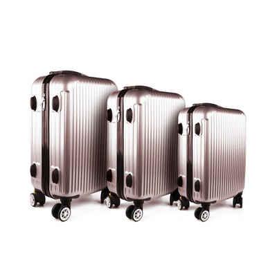 HTI-Living Kofferset »Kofferset 3-tlg High Level«, 4 Rollen, (Set, 3 tlg)