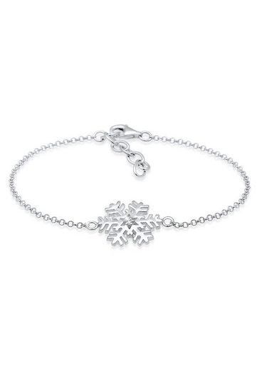 Elli Armband »Schneeflocke Xmas Kristalle 925 Silber«
