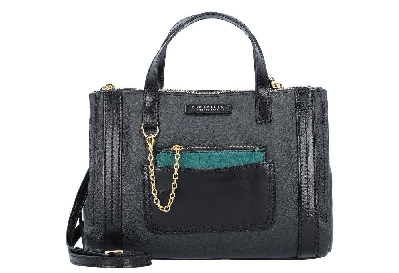 Damen THE BRIDGE  Saturnia Handtasche Leder 33 cm schwarz | 08033748436154