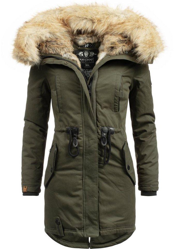 Navahoo Wintermantel »Bombii« stylischer Damen Winterparka ...