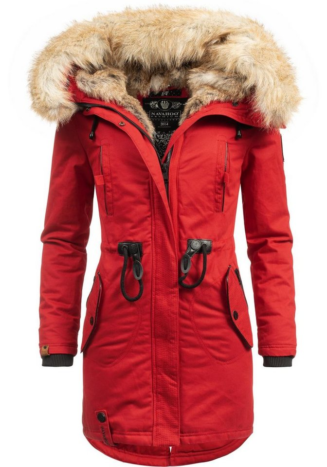 wholesale dealer 8a068 4d0e8 Navahoo Wintermantel »Bombii« stylischer Damen Winterparka mit  Kunstfell-Kapuze online kaufen | OTTO