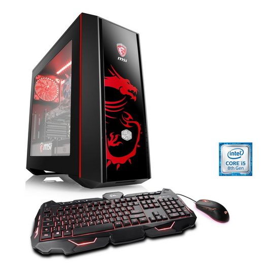 CSL Gaming PC, Intel Core i5-8500, GeForce GTX 1060, 8GB DDR4 RAM »Speed T5867 Powered by MSI«