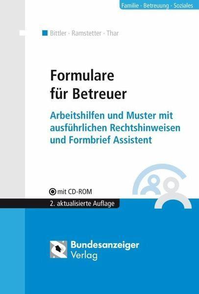 Broschiertes Buch »Formulare für Betreuer«