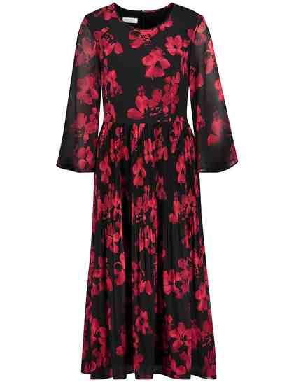 GERRY WEBER Kleid Gewebe »Maxikleid mit Blumenmuster«
