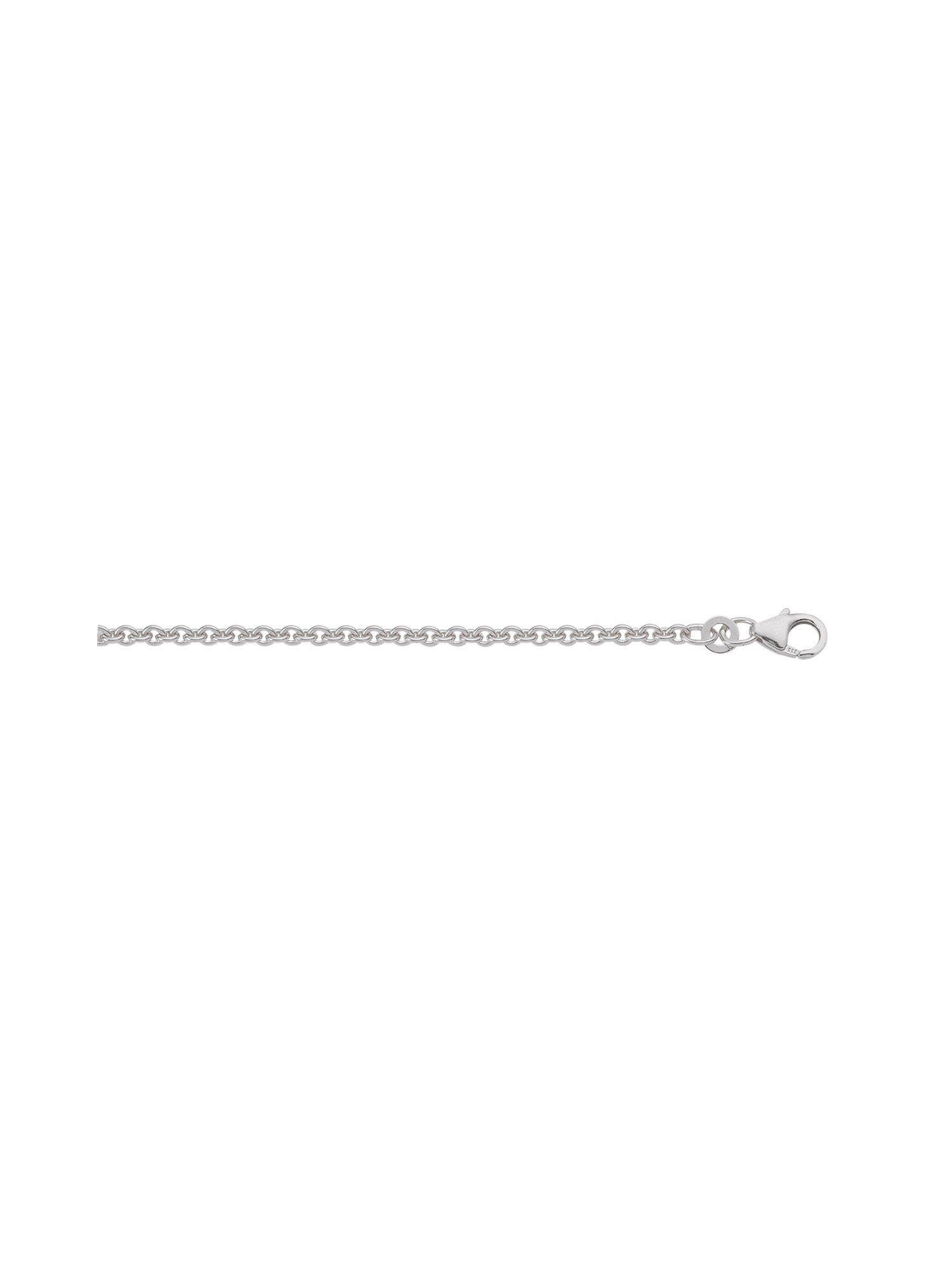 Adelia´s Goldkette »Weißgold 8 k (333) Collier - Halskette« 8 k 333 Weißgold Ankerkette rund