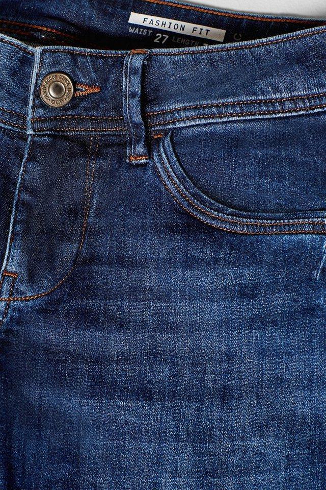 edc by Esprit Stretch-Jeans mit verzierter Penny Pocket