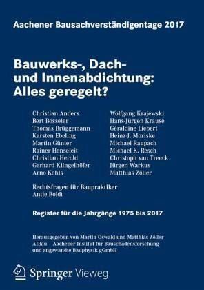 Broschiertes Buch »Aachener Bausachverständigentage 2017«