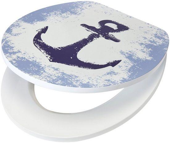 WC-Sitz »Anker«, MDF Toilettensitz mit Absenkautomatik