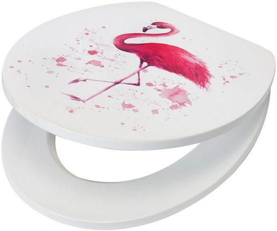 WC-Sitz »Flamingo«, MDF Toilettensitz mit Absenkautomatik