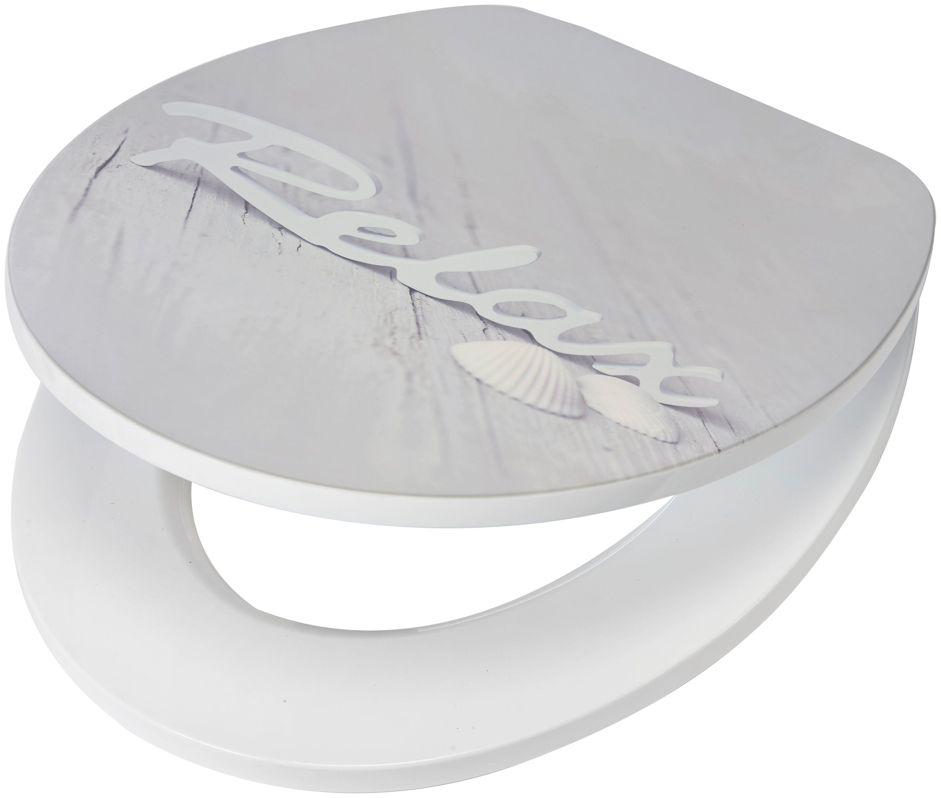 WC-Sitz »Relax«, MDF Toilettensitz mit Absenkautomatik