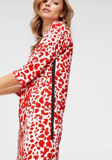 Aniston by BAUR Sommerkleid mit trendigem Leo Druck in rot-weiß