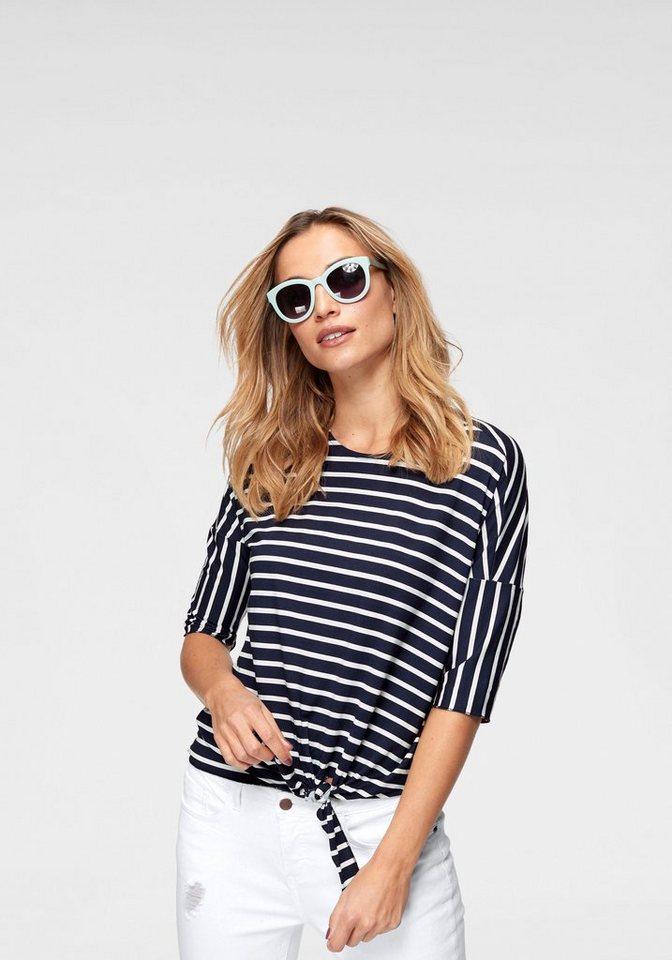 Damen Aniston by BAUR T-Shirt im Vorderteil zu knoten – NEUE KOLLEKTION blau   08698826393134