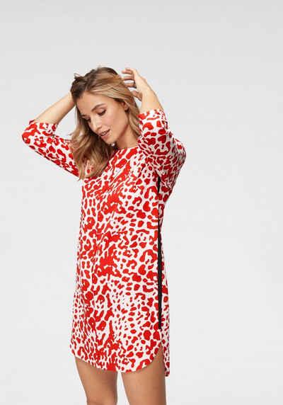 Aniston by BAUR Sommerkleid mit trendigem Camouflage Druck in rot-weiß -  NEUE KOLLEKTION b53bcd8b2f