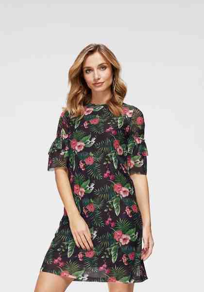Aniston by BAUR Sommerkleid mit unterschiedlichen Blumendrucken - NEUE KOLLEKTION