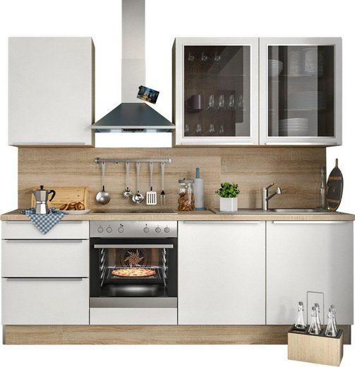 S+ by Störmer Küchenzeile »Melle Premium«, Без E-Geräte, Breite 240 cm, vormontiert
