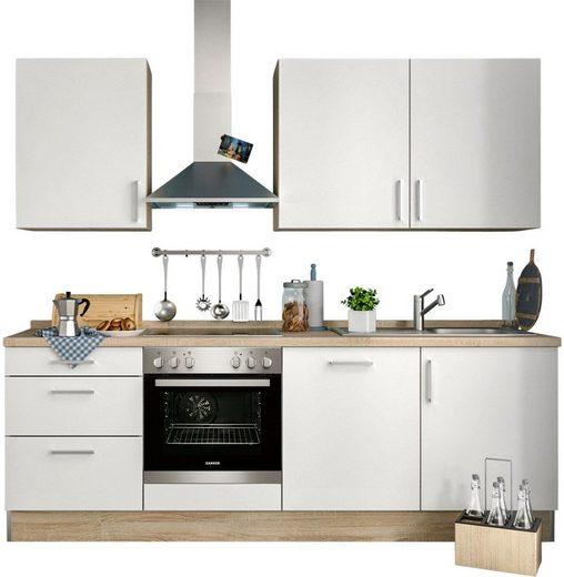 S+ by Störmer Küchenzeile »Melle Basis«, mit E-Geräten, Breite 240 cm, vormontiert