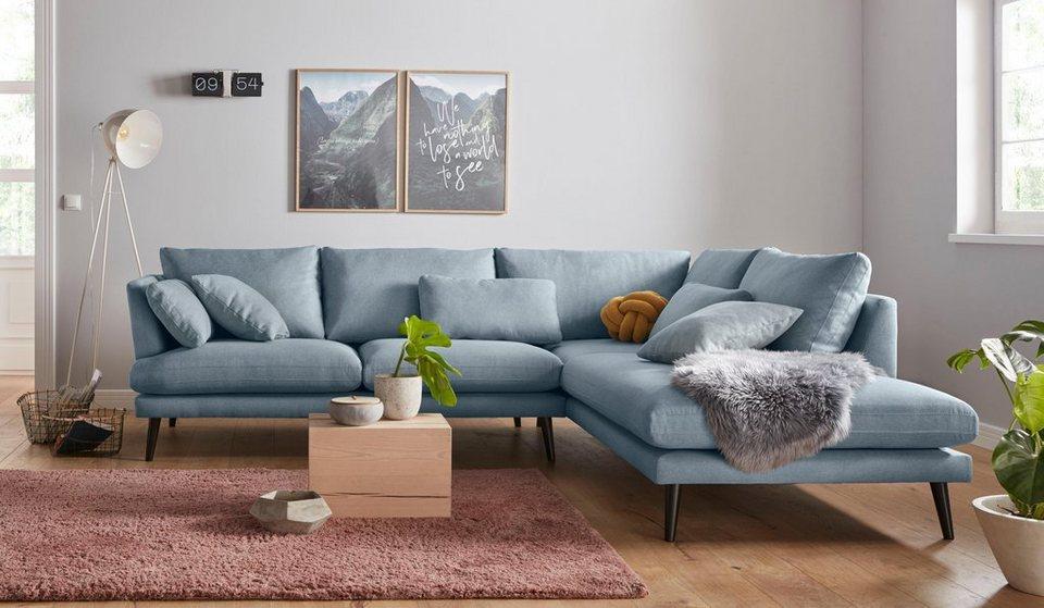 andas ecksofa gondola scandinavisches design und edle ausstrahlung mit holzbeinen online. Black Bedroom Furniture Sets. Home Design Ideas