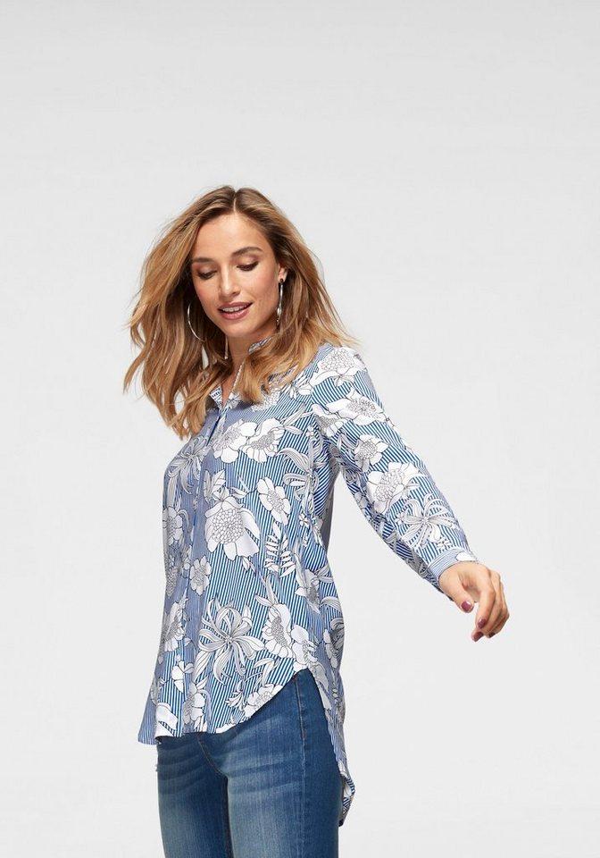 professioneller Verkauf abwechslungsreiche neueste Designs kosten charm Aniston by BAUR Longbluse mit Blüten und Streifen bedruckt online kaufen |  OTTO