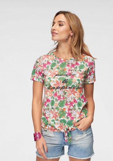 Aniston by BAUR T-Shirt mit Bindeband am Saum