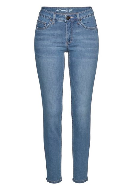 Hosen - Aniston CASUAL Skinny fit Jeans low waist › blau  - Onlineshop OTTO