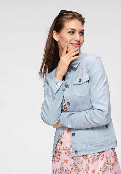 Aniston CASUAL Jeansjacke in zartem Pastell