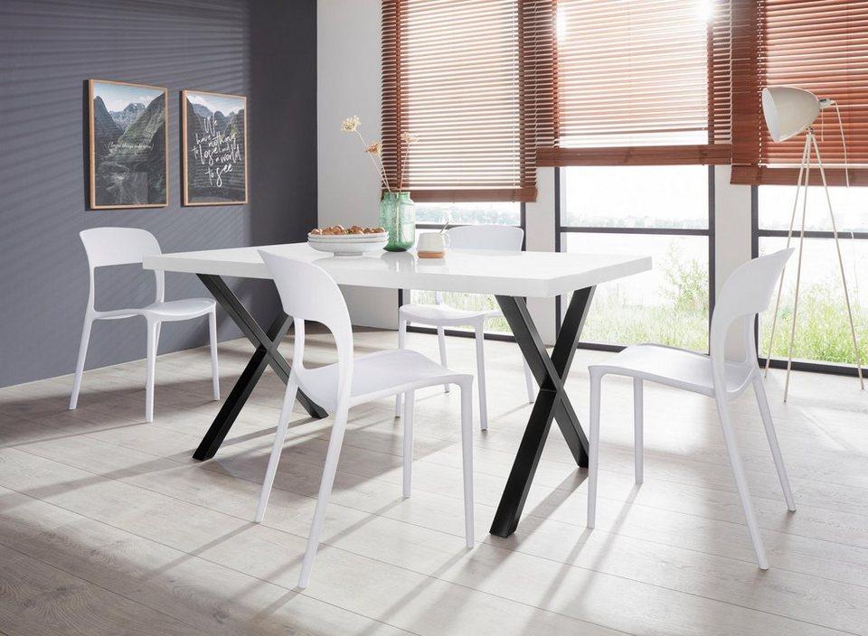 essgruppe ixus florian 160 mit 4 st hlen tischgestell. Black Bedroom Furniture Sets. Home Design Ideas