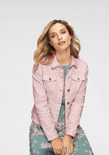 Aniston CASUAL Jeansjacke in zartem Pastell