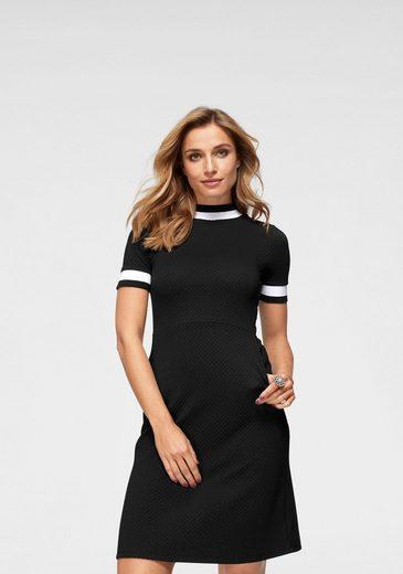 Baur Bündchen Schwarz Neue weißen Kollektion Mit Aniston By Jerseykleid 1p5ffxg