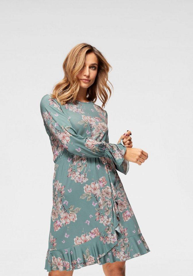 Damen Aniston by BAUR Jerseykleid mit Blumendruck und Schmetterlingen – NEUE KOLLEKTION grün   08699050284717