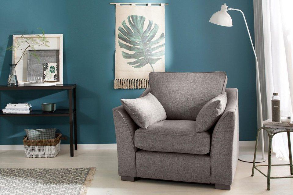 home affaire sessel clemente mit losen r ckenkissen und. Black Bedroom Furniture Sets. Home Design Ideas