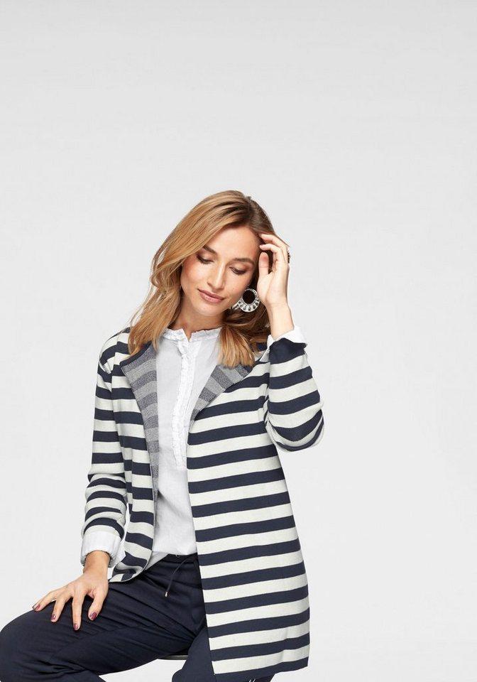 Damen Aniston by BAUR Longstrickjacke im Marine Look – NEUE KOLLEKTION blau   08808747314853