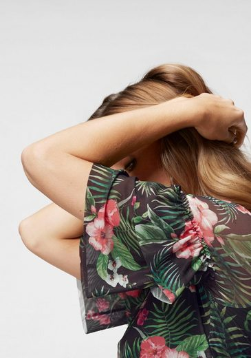 Unterschiedlichen Aniston Mit Baur By Kollektion Sommerkleid Neue Blumendrucken wnOA8Wqc1