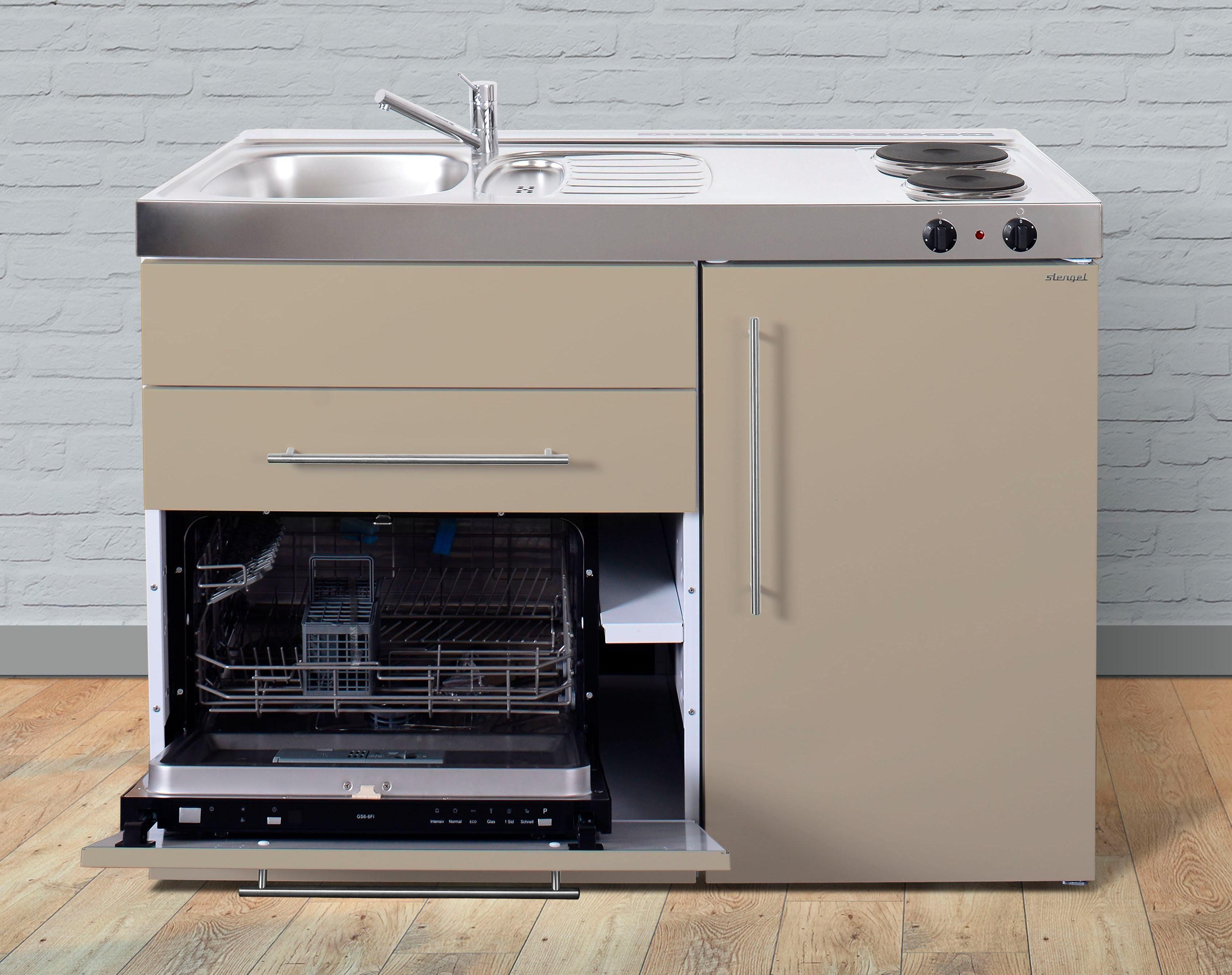 Miniküche Mit Kühlschrank Und Herd 120 Cm : Stengel miniküche mpgs « aus metall in der farbe sand breite