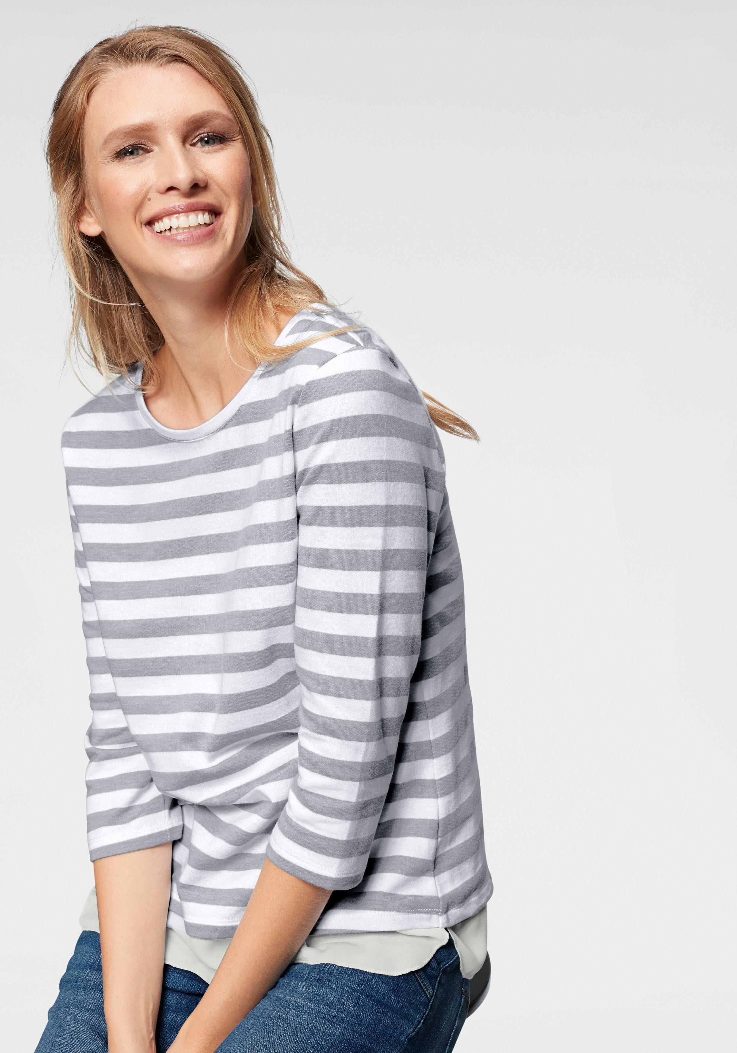 Cheer Sweatshirt in 2-in-1-Optik - bis Grösse 50 - NEUE KOLLEKTION