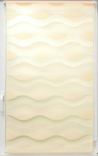 Doppelrollo »Doppelrollo Welle«, sunlines, Lichtschutz, ohne Bohren, freihängend, Effektiver Sichtschutz