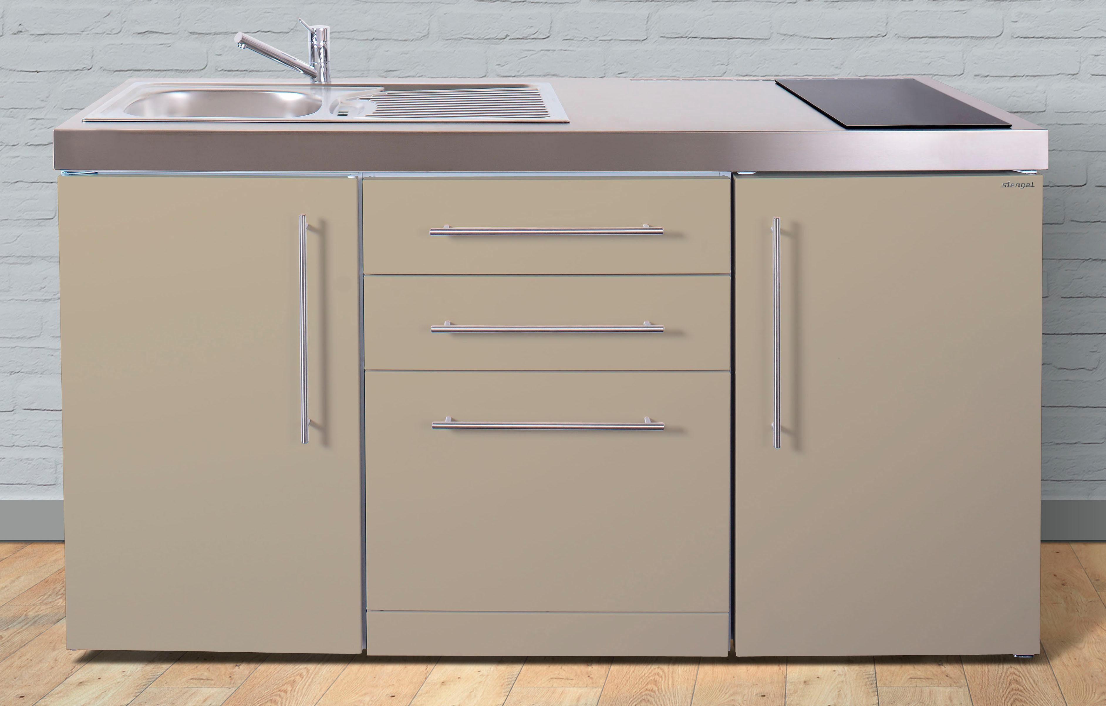 Stengel Miniküche »MPGS 160« aus Metall in der Farbe Sand, Breite 160 cm