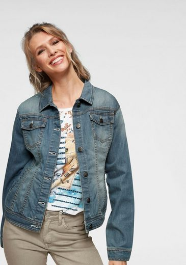 Aniston CASUAL Jeansjacke in Used-Waschung