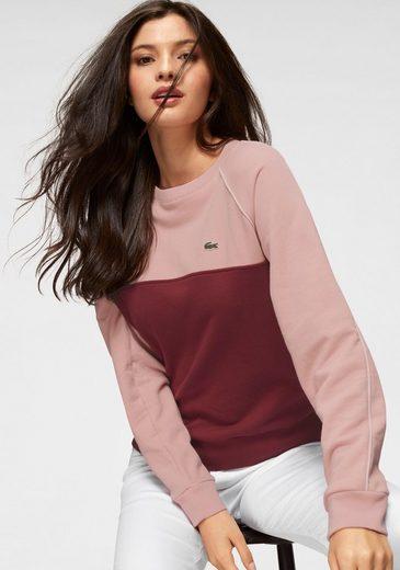Mit Farbeinsatz Lacoste Lacoste Farbeinsatz Sweatshirt Sweatshirt Mit 16Pz6dx
