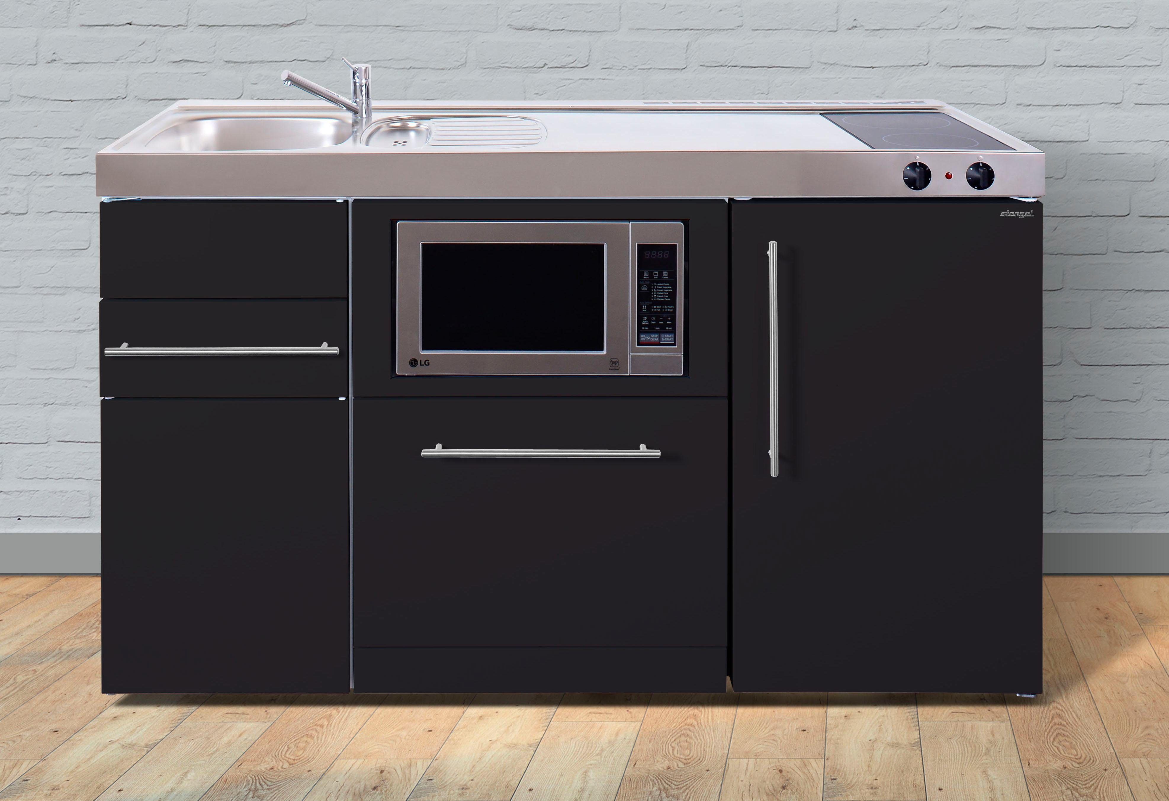 Miniküche Mit Kühlschrank Und Spülmaschine : Stengel miniküche mpgsm « aus metall in der farbe schwarz