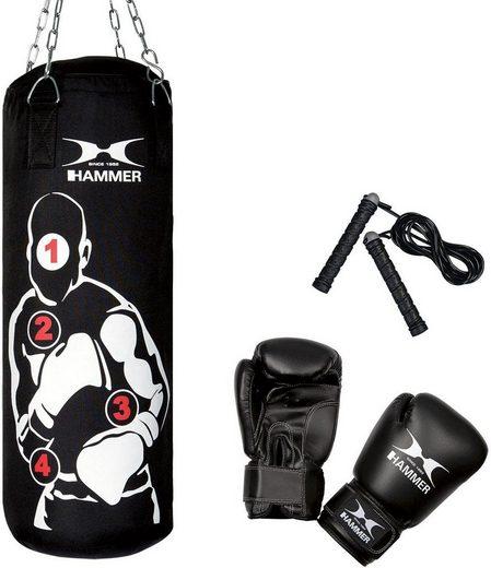 Hammer Boxsack »Sparring Pro« (Set, 3-tlg., mit Boxhandschuhen, mit Sprungseil)