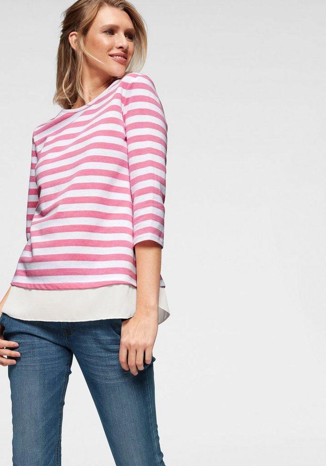 Cheer Sweatshirt in 2-in-1-Optik - bis Grösse 50 NEUE KOLLEKTION