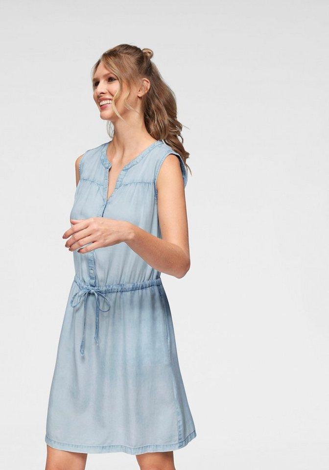 Cheer Jeanskleid aus softem Lyocell mit Gummizug in der Taille - NEUE KOLLEKTION | Bekleidung > Kleider > Jeanskleider | Blau | Lyocell | Cheer