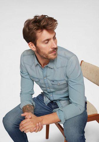TOMMY JEANS TOMMY джинсы рубашка джинсовая »...
